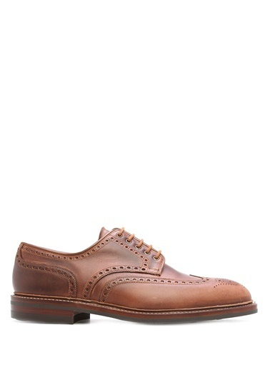 %100 Deri Oxford Ayakkabı-Crocket & Jones